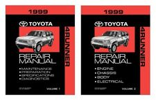 1999 Toyota 4-Runner Shop Service Repair Manual Book Engine Drivetrain OEM