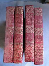 Lot of 4 Old Books Robert Louis Stevenson 1903 GC