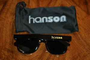 RARE BRAND NEW OFFICIAL Hanson Black and Gold Sunglasses