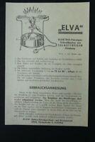 Vecchio Stampa Pubblicità Utente Elva Petrol Gas Cottura Rapida Vintage