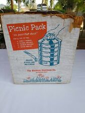 Vintage Buckeye Picnic Pack Aluminum Stackable Pots Pans Original Box