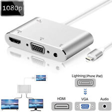 Lightning a HDMI VGA A/V Video Cables adaptadores para Apple iPhone SE 6S 7 8 X