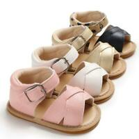 Baby Summer Sandals Girls No-slip Breath Toddler Infant Newborn Soft Sole Shoes