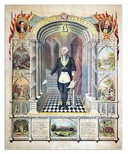 George Washington Freemason illuminati Painting 8x10 Fine Art Canvas Print