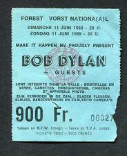 1989 Bob Dylan Concert Ticket Stub Brussles Belgium Never Ending Tour Europe