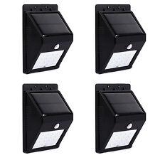 4PCS 16LED Outdoor Garden Solar Powered Motion Sensor Light Deck Step Wall Light