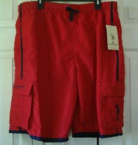 Men's Swim Trunks Red  Size XXL U.S. Polo Assn.