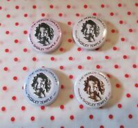 Ideal 1930's Shirley Temple Composition Doll Reproduction Pin Lot of 4- Custom