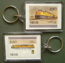 1969 Union Pacific (UP) CENTENNIAL Class Train Stamp Keyring (Loco 100)