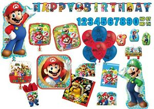 SUPER MARIO BROTHERS Tableware Party Decorations Birthday Supplies