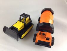 Tonka Trucks - Small - Cement Mixer & Bulldozer - 1990s - Set of Two