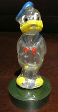 RARE Disney VINTAGE OLD Glass Donald Duck Figure Statue Display