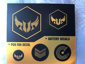 Genuine Original Asus TUF Gaming Stickers Black Gold Battery Decals