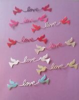 Love Birds Valentine Love Romance Wedding All Occasion Cardstock Die Cuts 10 PCS