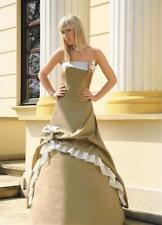 Abendkleid Zweiteiler Korsage Abschlussballkleid Maxikleid Ballkleid Gr. 36 gold