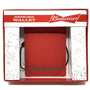 Budweiser Card and ID holder with Attached Bottle Cap Opener Red