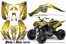 YAMAHA RAPTOR 350 GRAPHICS KIT CREATORX DECALS STICKERS SKULLS BOLTS M BLY