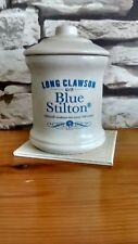 LONG CLAWSON TRADITIONAL BLUE STILTON CHEESE STORAGE JAR /POT [WITH LID] [EMPTY]