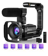 Cámara de video Videocámara, 2.7K 36MP + IR Visión Nocturna Reino Unido Digital de Acción. Nueva.