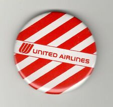 """TRANSPORTATION PIN PINBACK BUTTON    UNITED AIRLINES    RED WHITE STRIPE 2.25"""""""