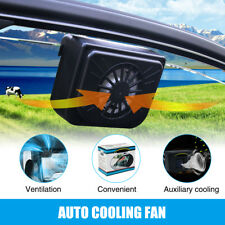 Solar Powered Auto Car Window Windshield Air Vent Cooling Fan Cooler Radiator