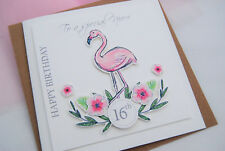Girls16th Birthday card Flamingo girls birthday 17th 18th 21st Birthday