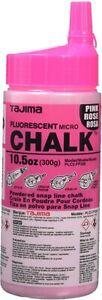 TAJIMA Micro Chalk - Fluorescent Pink 10.5 oz (300g) Ultra-Fine Snap-Line Chalk
