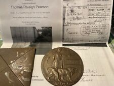 More details for original officers death plaque 2lt tr pearson church lads krrc dow 2nd july 1916