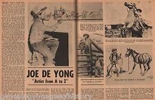 JOE DE YONG - ARTIST OF THE OLD WEST + Genealogy+Bartles,Blackfeet,Hayes,Hope