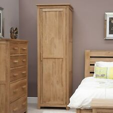 Eton solid oak modern furniture single bedroom wardrobe