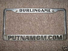 Burlingame CA Embossed License Plate Frame Dealership Metal Holder Tag