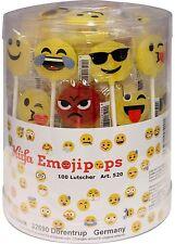(1000g=12,99€) Küfa Smileys Emojipops - Lutscher Emoji Emojis - 100 Stück
