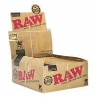 25 Packs x RAW Rolling Papers King Size Slim Classic Natural Unrefined