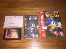 Sonic 3D Blast (Sega Genesis) Complete w/Registration Card in Cardboard Box Exc!