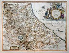 ITALIEN ITALIA ABRUZZO CITRA ET ULTRA ABRUZZEN ADRIA WAPPEN SCHIFFE BLAEU 1640