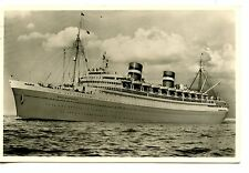 SS Nieuw Amsterdam Ship-1959 Paquebot Cancel-RPPC-Vintage Real Photo Postcard