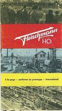 Catalogue FLEISCHMANN 1962 Train HO catalogo katalog modelltreu