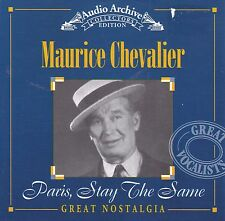 MAURICE CHEVALIER Paris, Stay The Same CD