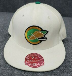 Mitchell & Ness NHL Hat California Golden Seals Wool Fitted 7 1/2 White 60 cm