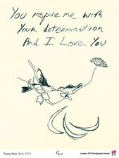 Tracey Emin Birds 2012  London Paralympics official original print poster