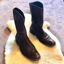 Kenneth Cowboy Boot, Vero Cuoio, Handmade, Italian Made, Mens Size 8.5 Euro 42
