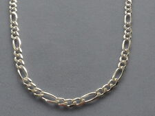 """STERLING SILVER 18""""- FIGARO LINK CHAIN/NECKLACE-120- 5MM- ITALY 925"""
