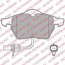 Delphi Front Brake Pad Set LP1672 - BRAND NEW - GENUINE - 5 YEAR WARRANTY