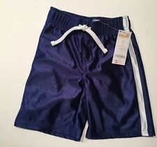 Nwt Gymboree Slam Dunk Size 3T Blue Satin Stripe Basketball Athletic Shorts