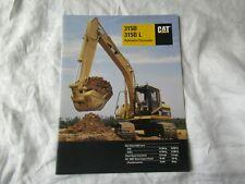 CAT Caterpillar 315B 315B L excavator brochure