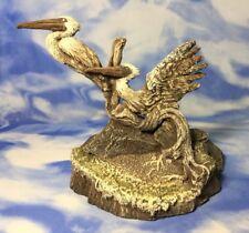 "EX RARE Artist Proof Rick Cain ""Beach Comber"" Pelican Sculpture Statue 4/25 EUC"