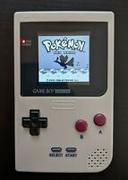 Gray Game Boy Pocket MGB-001 High Def Screen Modded with 108-in-1 Multicart