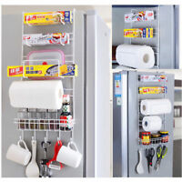 Over Door Freezer Storage Rack Kitchen Pantry Spice Organizers Space Saver Shelf
