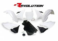 Yamaha YZ250 2002 2003 2004 2005 2006 White Revolution Plastic Kit & Fuel Tank