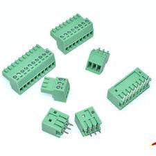 KF2EDG-2.54MM Kits 2~8P PCB Terminal Block Plug-in Bent/Straight Pin Holder+Plug